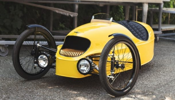ev3 junior is a 10mph kid sized version of morgans three wheeled electric car